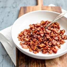 How to Make Homemade Bacon Bits… Without A Food Processor